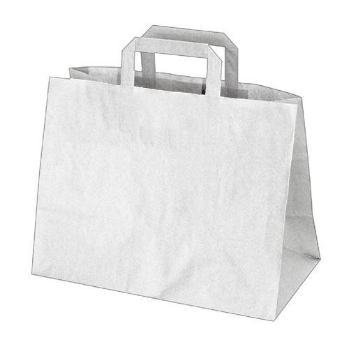 d00dc93eb Tašky | Papierové tašky 32x17x25cm, 50ks, biele | Obalkovo.sk - Váš ...