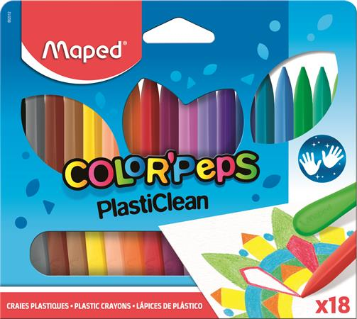 "Voskovky PlastiClean, MAPED ""Color'Peps"", 18ks"